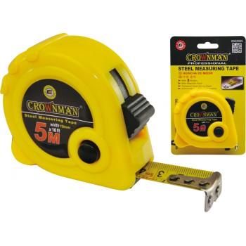 Crownman 5mx19mm ABS Case Steel Measuring Tape with Magnetic Hook