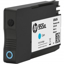 HP 955XL Cyan Original Ink Cartridge (L0S63AA)