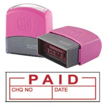 AE Flash Stamp - Paid, Date, CHQ No