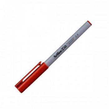 Artline 250 Permanent Marker EK-250 - 0.4mm Red
