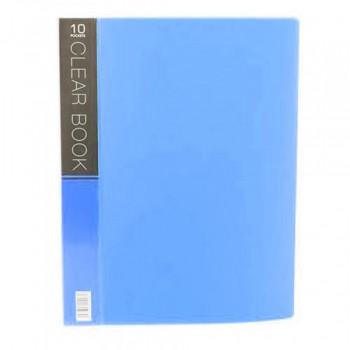 CBE Merry Colour Clear Book VK10 A4 BLUE (10 Pockets)