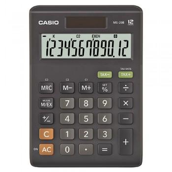 Casio Desktop Calculator - 12 Digits, Solar & Battery, Tax Calculation & Currency Exchange (MS-20B)