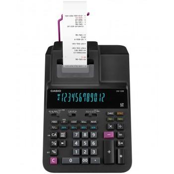 Casio Printing Calculator - 12 Digits, 2-Color Printing, Tax Calculation, Black (DR-120R-BK)