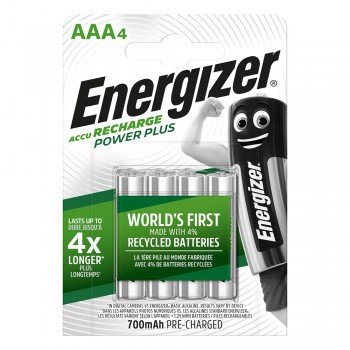 Energizer Power Plus AAA Rechargeable Batteries - 4-count - 700 mAh (Item No: B06-14) A1R2B227