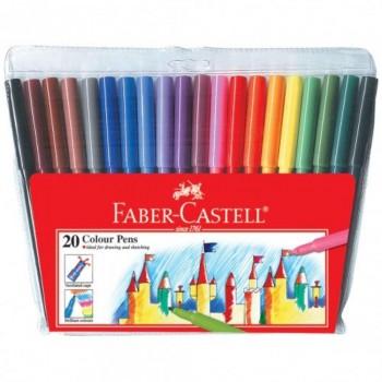 Faber Castell Fibre Tip Colour Pens 154320 - 20pc (Item No: A02-29) A1R1B159