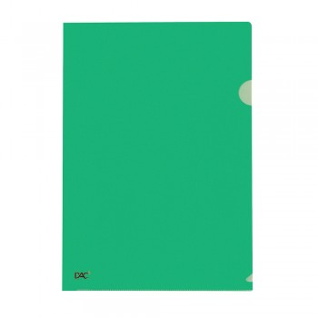 L Shape Transparent (Green) Document Holder File A4 Size