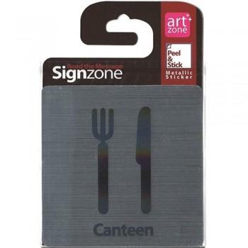 Signzone Peel & Stick Metallic Sticker - Canteen (Item No: R01-01CANTEEN)