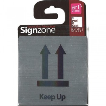 Signzone Peel & Stick Metallic Sticker - Keep Up (Item No: R01-33)