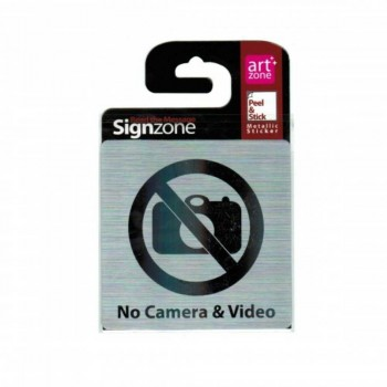 Signzone Peel & Stick Metallic Sticker - NO Camera & Video (Item No: R01-43)