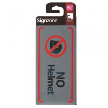 Signzone Peel & Stick Metallic Sticker - NO Helmet (Item No: R01-67)