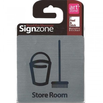 Signzone Peel & Stick Metallic Sticker - Store Room (Item No: R01-01STOREROOM)