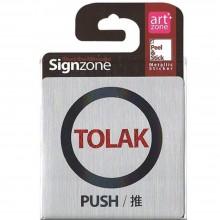 Signzone Peel & Stick Metallic Sticker - TOLAK (PUSH / 推) (Item No: R01-01-TOLAKPSH)