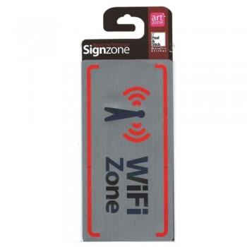 Signzone Peel & Stick Metallic Sticker - WiFi Zone (Item No: R01-69)