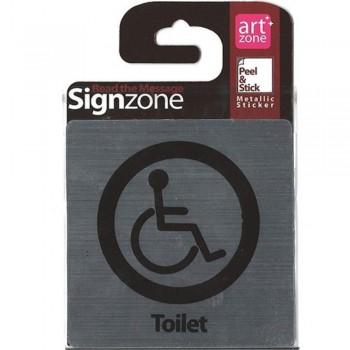 Signzone Peel & Stick Metallic Sticker - Toilet (Item No: R01-08)