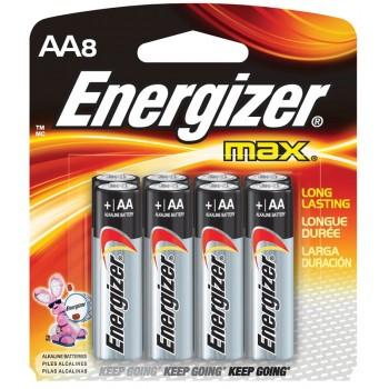 Energizer MAX AA Alkaline Batteries - 8pcs pack (Item No: B06 21) E91BP8