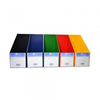 "5"" PVC Magazine Box File - Mix Solid"