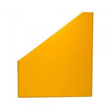 """5"""" PVC Magazine Box File - Yellow"""