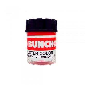 Buncho Poster Color 15CC Fluorescent F11 Vermilion - 6/Box