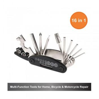 16-in-1 Multi-Function Tools for Home, Bicycle & Motorcycle Repair
