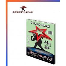 Lucky Star A4 2 Sheet Card 120gsm ( Card 130 ) - Green