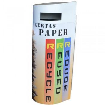 BONANZA (HDPE) Paper - 400mm(Dia) x 1200mm(H)--per set c/w sticker & PE liner