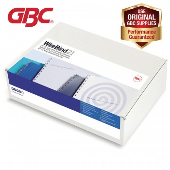 GBC WireBind 21 Loops - 12mm, A4, 109 Sheets, Black