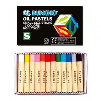 BUNCHO Oil Pastels Small Size Sticks - 12 colors