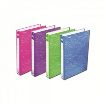K2 8925 Fancy Hard Cover Ring File (Mix Colour) - 25mm, 2D, 1 pcs