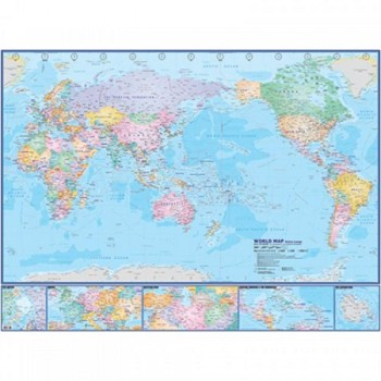 """Map Of World Extra Large W112M - (Magnetic) H44"""" x W58"""""""