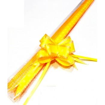 Pull Flower Ribbon Cotton 23mm Yellow Orange (10 pcs)