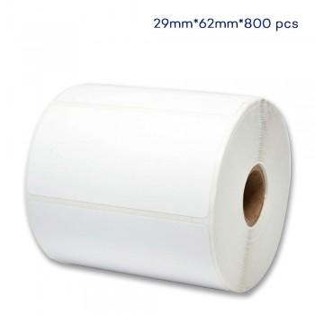 62mm W x 29mm H, 800pcs per roll Direct Thermal Paper