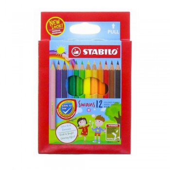 STABILO Swans Colored Pencil - Short 12pcs (Item No: B05-16) A1R2B144