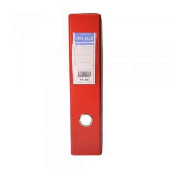 EMI PVC 75mm Lever Arch File A4 - Red