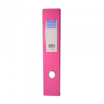 EMI PVC 75mm Lever Arch File F4 - Fancy Pink