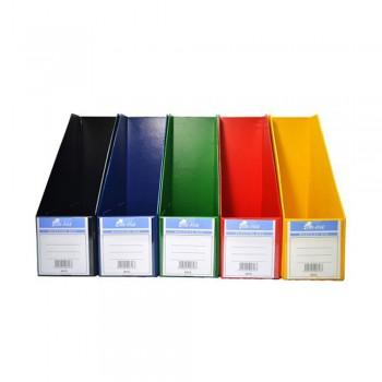 "4"" PVC Magazine Box File - Mix Solid"