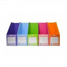 "5"" PVC Magazine Box File - Mix Fancy Colour"