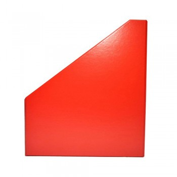 "5"" PVC Magazine Box File - Red"