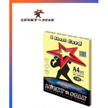 Lucky Star A4 2 Sheet Card 120gsm ( Card 160 ) - Yellow