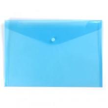 A4 Document Holder Wallet Button Blue