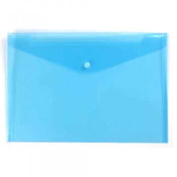 A4 Document Holder Wallet Button Blue