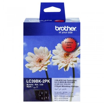 Brother LC-39 Black Twin Pack Ink Cartridge
