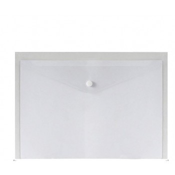 A4 Document Holder Wallet Button White