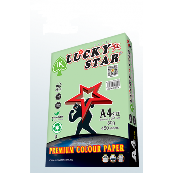 Lucky Star A4 Color Paper - ( CS 130) - Green