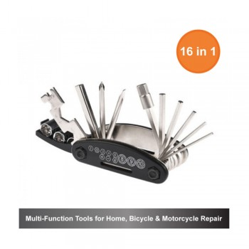 16-in-1 Multi-Function Tools for Home, Bicycle & Motorcycle Repair
